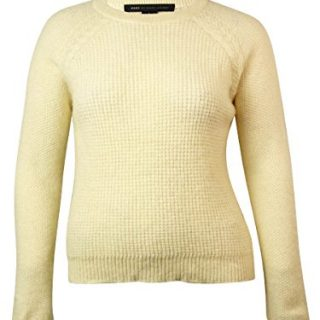 Marc by Marc Jacobs Women's Hamilton Sweater, Canvas White, Large