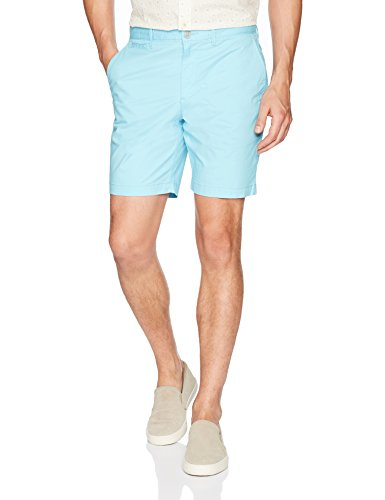 Original Penguin Men's P55 8 inch Basic Short with Stretch Slim, Blue Topaz, 33