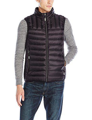 Tumi Men's Packable Puffer Vest, Black, X-Large