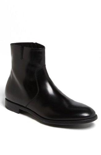 Salvatore Ferragamo Mens Soffio Black Dress Boots Leather Size 11 D(M) US