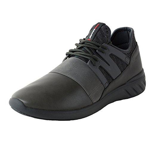 Alpine Swiss Josef Men Tennis Shoes Low Top Sneakers Flex Strap Mesh Knit Collar,Gray,9 D(M) US