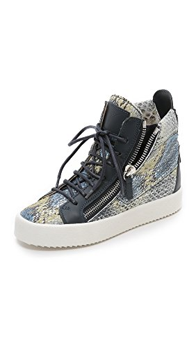 Giuseppe Zanotti Women's Printed Snake Sneakers, Blue Multi, 35 EU (5 B(M) US Women)