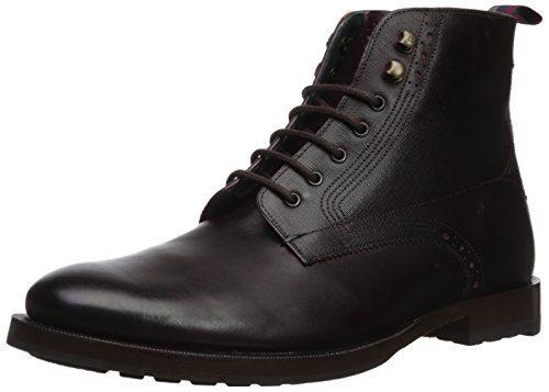 Ted Baker Men's Dhavin Ankle Boot, Dark Red, 10 M US