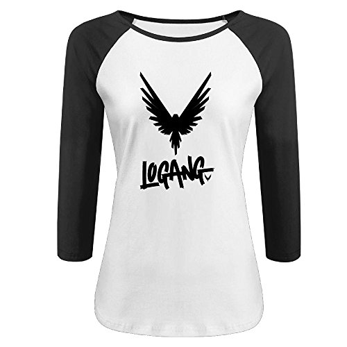 qingjin Womens Parrot Logan Paul Logang 3/4 Sleeve Raglan Tshirt