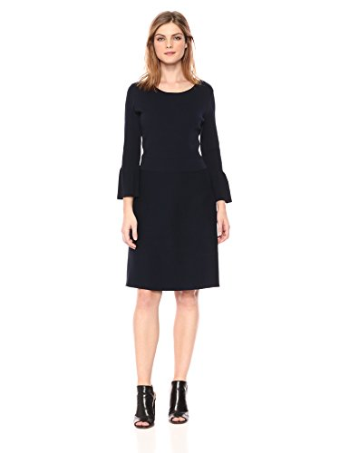 A|X Armani Exchange Women's Slight Peplum Work Dress, Navy, S