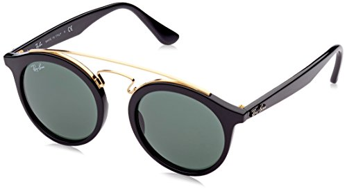 Ray-Ban Injected Unisex Sunglasses - Black Frame Dark Green Lenses 46mm Non-Polarized