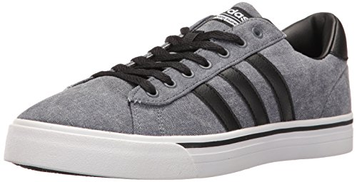 adidas Men's Cloudfoam Super Daily Fashion Sneakers, Black/Black/White, (11 M US)