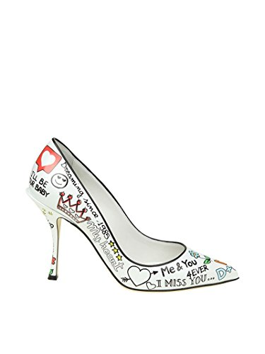 Dolce e Gabbana Women's White Leather Pumps