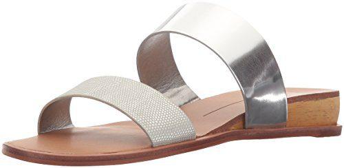 Dolce Vita Women's Payce Wedge Sandal, Silver Lizard Embossed Stella, 8.5 M US