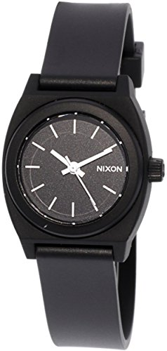 Nixon Women's Small Time Teller P Watch, Black