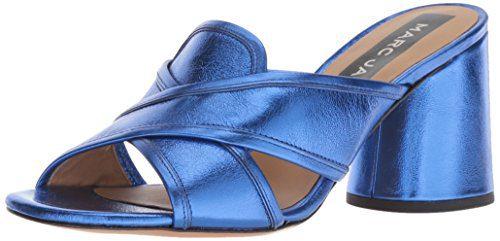 Marc Jacobs Women's Aurora Mule Heeled Sandal, Blue, 37.5 M EU (7.5 US)
