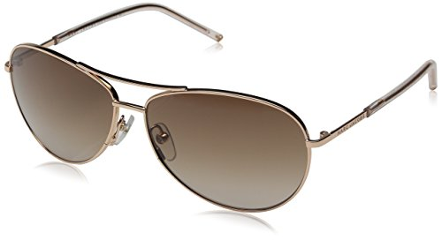 Marc Jacobs Marc59s Aviator Sunglasses, Gold Copper/Brown Gradient, 59 mm