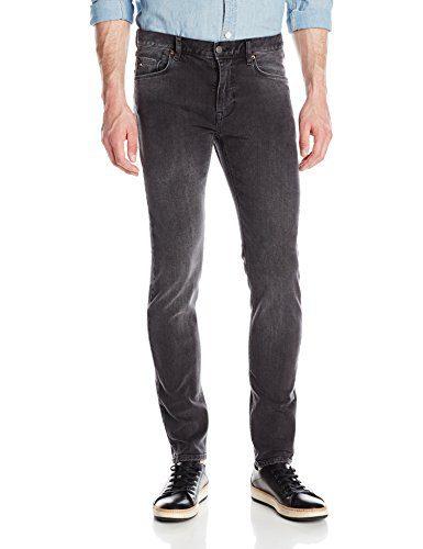J.Lindeberg Men's Damien Shadow Jeans, Light Grey, 34 x 32