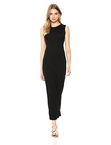 Enza Costa Women's Island Cotton Sleeveless Muscle Dress, Black, XS