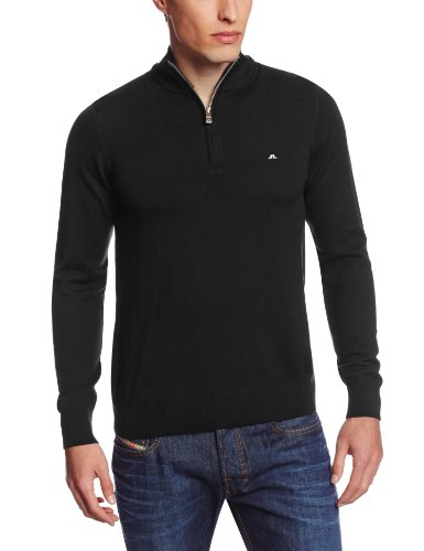 J.Lindeberg Men's Kian Tour Merino Sweater, black, Small