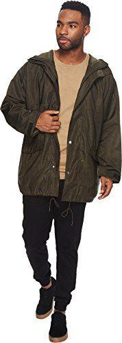 Publish Men's Heath Camo Nylon BDU Jacket Olive Small