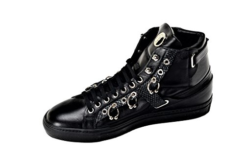 Versace Collection Men's Leather Low Top Sneakers Black US-11 IT 44