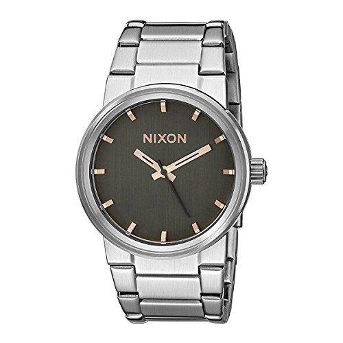 Nixon Unisex Cannon Gray/Rose Gold Watch