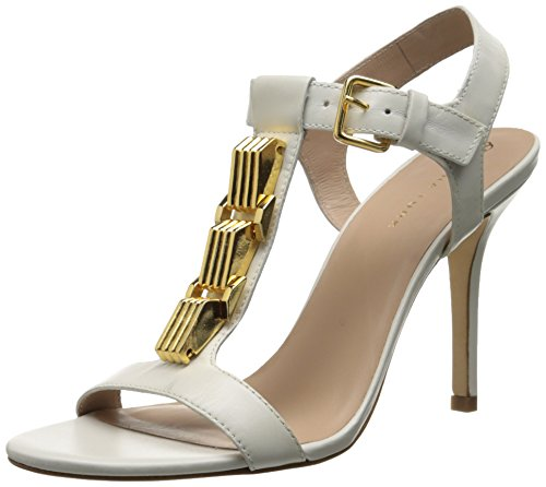 Trina Turk Women's Loyola Dress Sandal, White, 8 M US