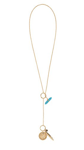 Gorjana Women's Wanderlust Toggle Charm Necklace, Gold/Turquoise, One Size