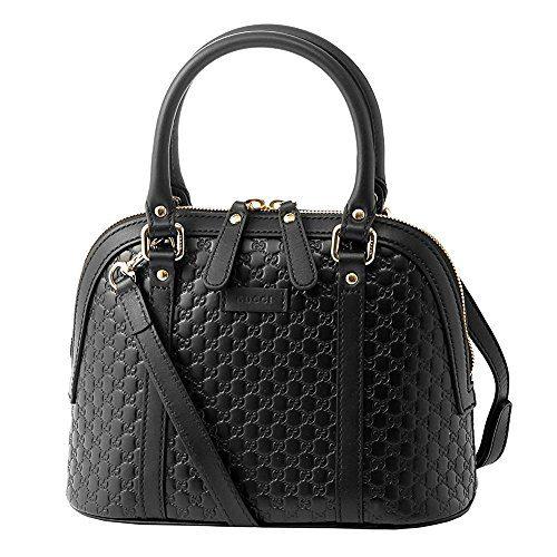 Gucci microguccissima bag black leather