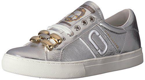Marc Jacobs Women's Empire Chain Link Sneaker, Silver, 39 M EU (9 US)