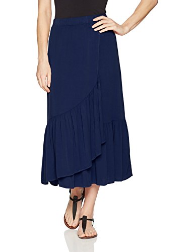 Michael Stars Women's Rylie Rayon Wrapped Midi Skirt, Passport, S