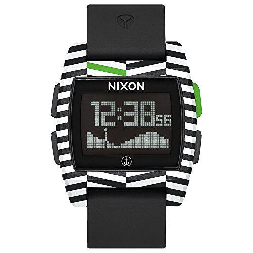 NIXON The Base Tide Watch, Black/Captain Fin, One Size