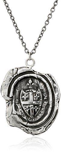 Pyrrha talisman Sterling Silver Five Fleur De Lys Crest Necklace