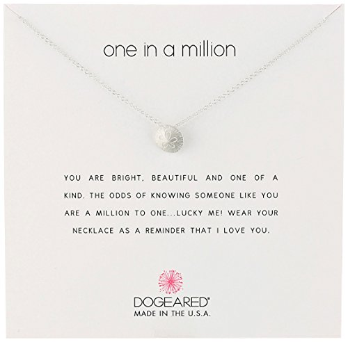 "Dogeared Reminders-One in a Million Sterling Silver Sand Dollar Charm Necklace, 16"" +2"" Extender"