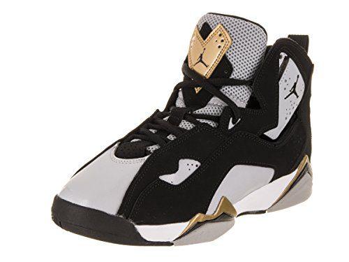 Jordan Nike Kids True Flight BG Black/Black Wolf Grey White Basketball Shoe 5.5 Kids US