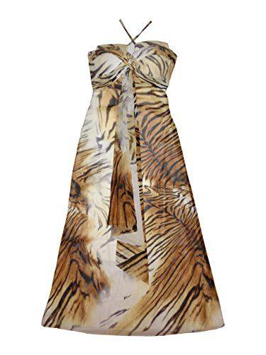 Roberto Cavalli Women's Long Dress Without Sleeves Medium Multicolor
