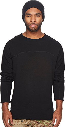 Publish Men's Jorden Drop Shoulder Crew Neck Sweater Black Medium