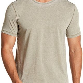 John Varvatos Men's Short Sleeve Washed Out Crew T-Shirt Large Seafoam
