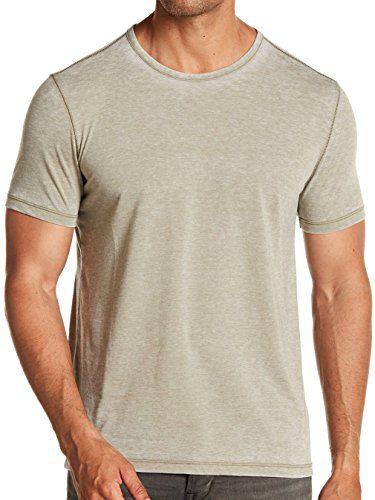 John Varvatos Men's Short Sleeve Washed Out Crew T-Shirt Large Seafoam