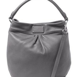 Marc by Marc Jacobs Hillier Leather Handbag (Faded Aluminum/ Sliver)
