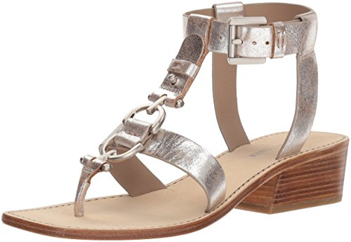 Donald J Pliner Women's Dena Sandal, Silver, 8.5 Medium US