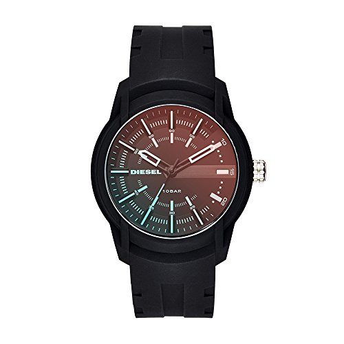 Diesel Men's Quartz Stainless Steel and Silicone Casual Watch, Color Black (Model: DZ1819)