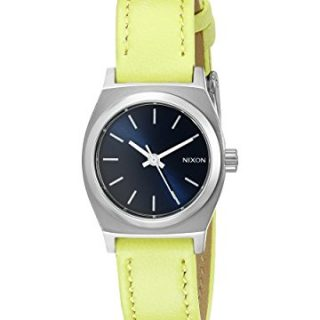 Nixon Women's Small Time-Teller Leather Analog Display Quartz Watch
