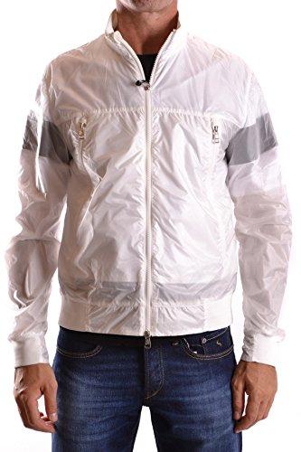Moncler Men's White Polyamide Outerwear Jacket