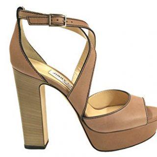 JIMMY CHOO Women's April120o Beige Leather Sandals