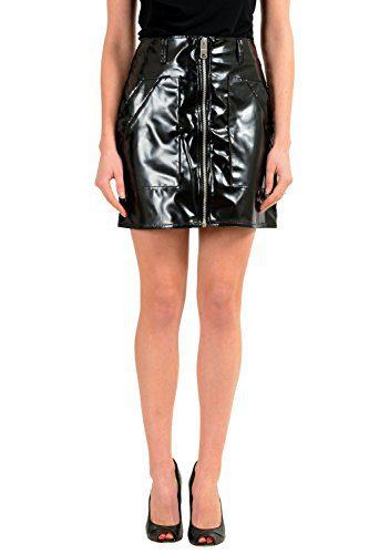 Versace Versus Black Full Zip Women's Mini Skirt US XS IT 38