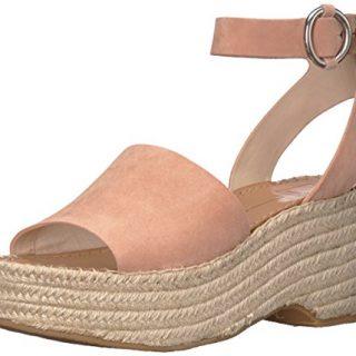 Dolce Vita Women's Lesly Espadrille Wedge Sandal, Rose Suede, 8.5 M US