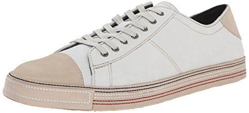 vJohn Varvatos Men's Mick Low Fashion Sneaker, White, 7 M US