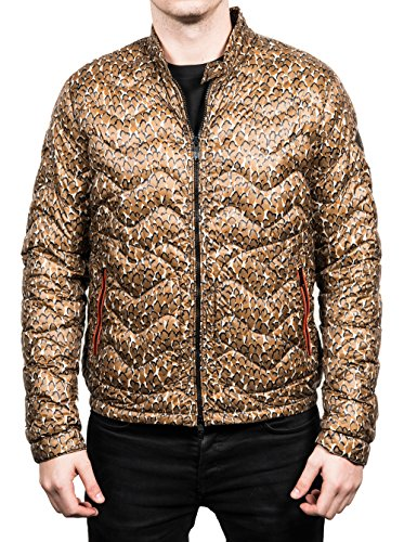 Moncler Men's Warthog Camoflauge Down Jacket Green