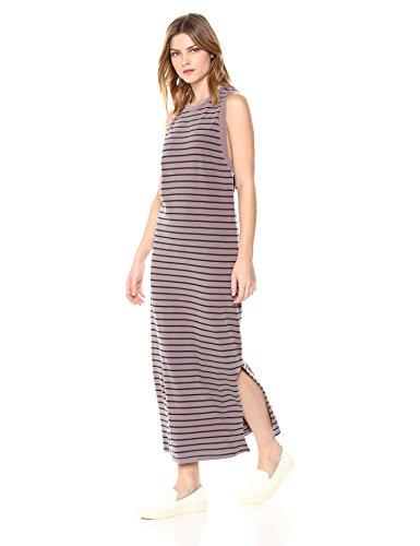 Stateside Women's Stripe Midi Dress, Mocha, Extra Small