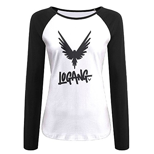 qingjin Women's Parrot Logan Paul Logang Long Sleeve Raglan Baseball T-Shirt