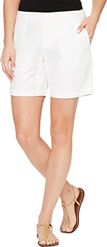 Michael Stars Women's Linen Cotton Blend Walking Shorts White Shorts