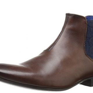 Ted Baker Men's Hourb 2 Lthr Am Brown Chukka Boot, Brown, 8.5 M US
