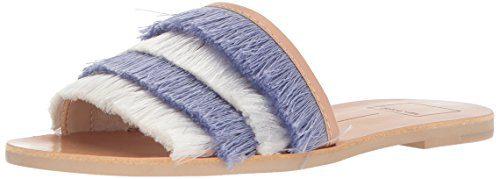 Dolce Vita Women's Celaya Slide Sandal, Blue Fringe, 7.5 M US